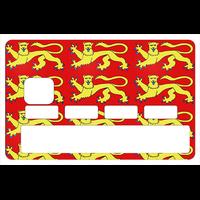 Sticker pour carte bancaire, la Normandie