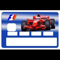 Sticker pour carte bancaire, Formule 1
