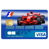 Stickers décoratif pour carte bancaire, Formule 1, par le DgedeNice