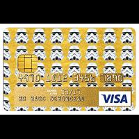 Stickers décoratif pour carte bancaire, Stormtrooper GOLD