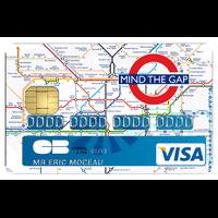 Stickers autocollant pour carte bancaire, Mind the Gap