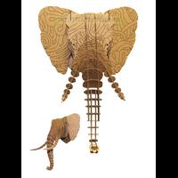 Trophée 3D Puzzle, Elephant , motifs à colorier , Floral