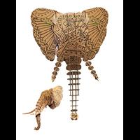 Trophée 3D Puzzle, Elephant, motifs à colorier, Geometrique
