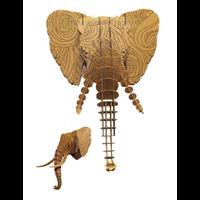 Trophée 3D Puzzle, Elephant, motifs à colorier, Tourbillon