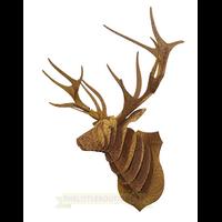 Trophée 3D Puzzle, CERF , motifs à colorier , Floral