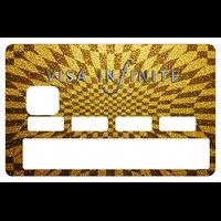 Stickers décoratif pour carte bancaire, Visa Infinite Gold