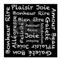 Impression sur toile, 30 cm x 30 cm, Joie et Bonheur