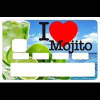 Stickers décoratif pour carte bancaire, I LOVE MOJITO été 2018, par le DgedeNice