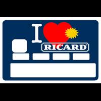 Stickers décoratif pour carte bancaire, I LOVE RICARD été 2018, par le DgedeNice