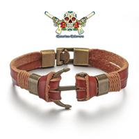 Bracelet Homme ou Femme, en cuir, SAINT TROPEZ
