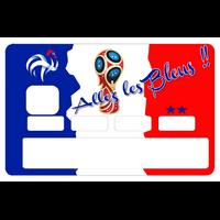 Sticker pour carte bancaire, Allez les bleus !! par le Dgedenice