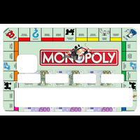 Sticker pour carte bancaire, Monopoly, Serie limitée 300 ex
