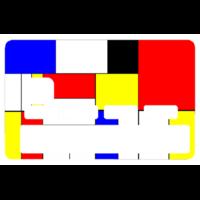 Sticker pour carte bancaire, Hommage à Mondrian, édition limitée 300 ex