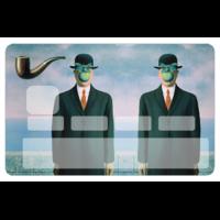 Stickers décoratif pour carte bancaire, Hommage à MAGRITTE