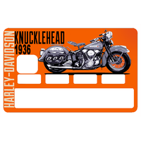 Sticker pour carte bancaire, Harley Davidson KNUCKLEHEAD