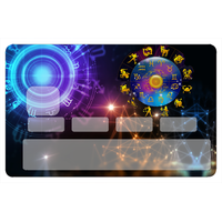 Stickers décoratif pour carte bancaire, les signes du zodiaque, par le DgedeNice