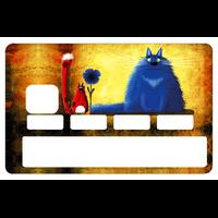 Stickers décoratif pour carte bancaire, les chats par le DgedeNice