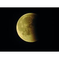 Eclipse de lune, juillet 2018, Impression photo HD sur plexiglas 100 cm x 75 cm