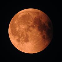 Lune rouge, juillet 2018, Impression photo HD sur plexiglas 100 cm x 100 cm