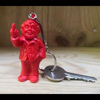 Le porte clef, le nain doigt d'honneur de Ottmar Hörl