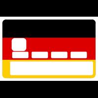 Sticker pour carte bancaire, Drapeau Allemand