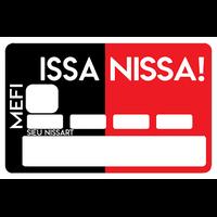 Sticker pour carte bancaire, ISSA NISSA