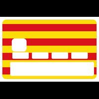 Sticker pour carte bancaire, Drapeau Catalan