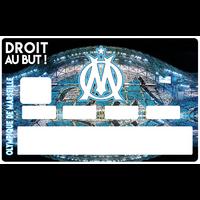 Sticker pour carte bancaire, OM olympique de Marseille, édition limitée 300 ex.