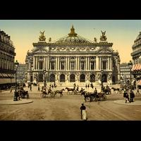 Paris, l'opera en 1900, Dimensions: 50 cm x 70 cm