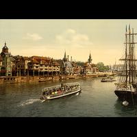 Le vieux Paris et la seine, 1900, Dimensions: 50 cm x 70 cm