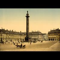 Paris, la colonne Vendôme en 1900, Dimensions: 50 cm x 70 cm