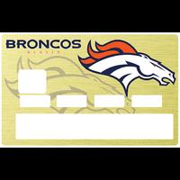 Sticker pour carte bancaire, Denver Broncos