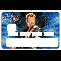 Stickers décoratif pour carte bancaire, Johnny Hallyday, 2 éme edit. limitée 300 ex, 1 sur 300