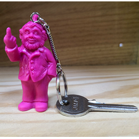 Porte clef, le fameux nain doigt d'honneur de Ottmar Hörl, Rose