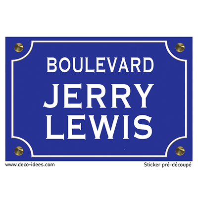 Sticker nom de rue, JERRY LEWIS