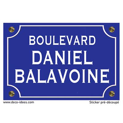 Sticker nom de rue, DANIEL BALAVOINE