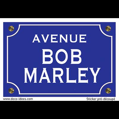 Sticker nom de rue, BOB MARLEY
