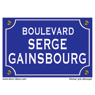 Sticker nom de rue, SERGE GAINSBOURG