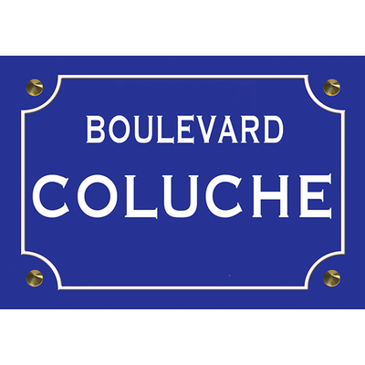 Sticker plaque de rue, COLUCHE
