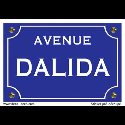 Sticker plaque de rue, DALIDA