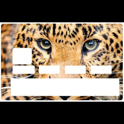 Sticker décoratif pour carte bancaire, le leopard