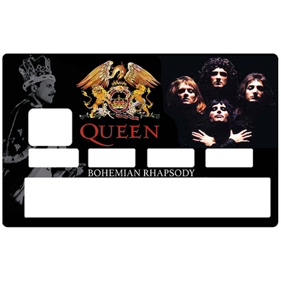 Sticker pour carte bancaire, Tribute to QUEEN bohemian Raphsody