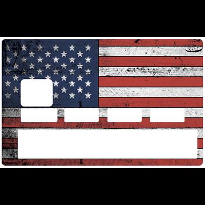 Sticker décoratif pour carte bancaire, American flag