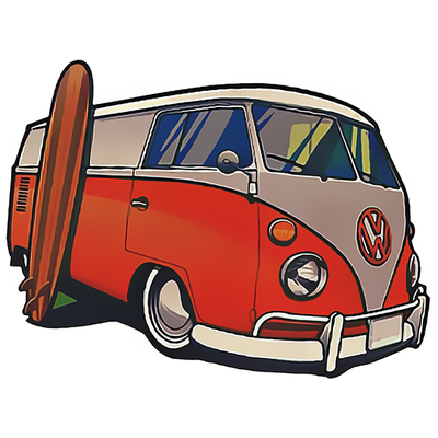 Stickers pour MacBook, Scooter, Moto, Auto, Ipad, laptop, PC, Console de jeux..le COMBI VW