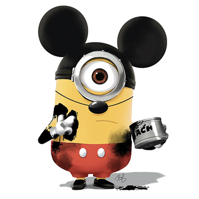 Sticker MINION MICKEY H.15 cm