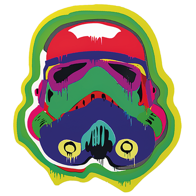 Sticker STORMTROOPER TRIBAL H.13 cm