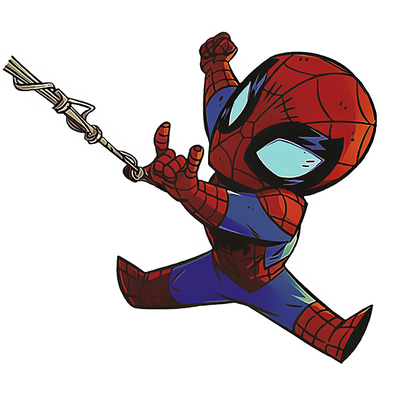 Sticker LITTLE SPIDERMAN H.15 cm