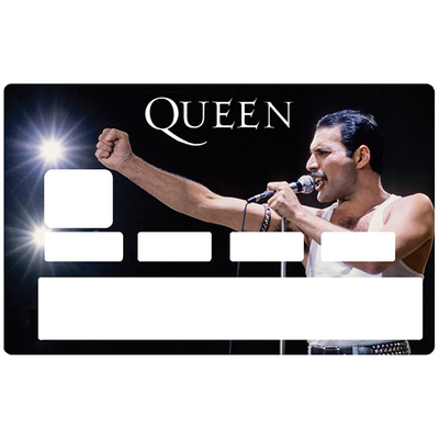 Sticker pour carte bancaire, Tribute to Freddie Mercury & QUEEN