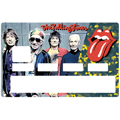 Sticker pour carte bancaire, Tribute to Rolling Stones