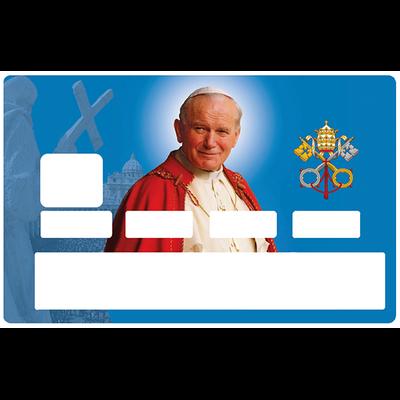Sticker décoratif pour carte bancaire, le Pape jean paul 2